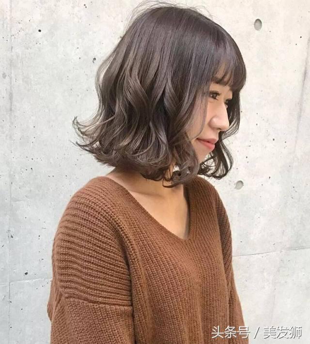 美到爆表适合二十岁的齐肩国外iob烫发发型图片图片