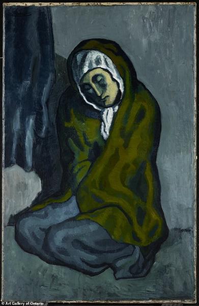 �m��O8_毕加索作品《蜷坐的乞丐》