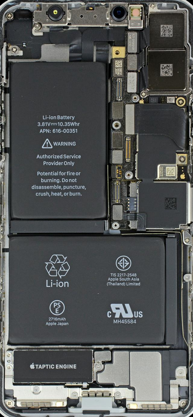 精选苹果华为三星手机电路板壁纸 亮屏一瞬间还以为手机透明了!