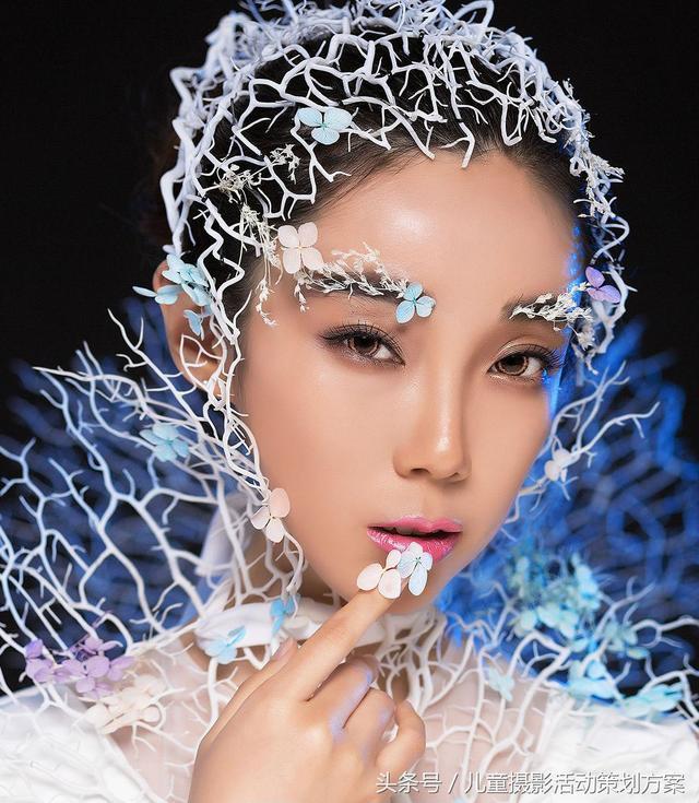 博弈品牌策划秀场老师芳子创意新娘造型,抛开传统套路