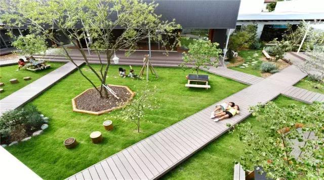 幼儿园室外活动区域设计4大理念:留白,绿化,娱乐,自然图片