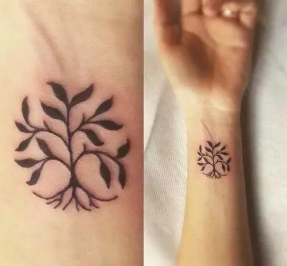 生命树纹身图片手腕分享展示图片
