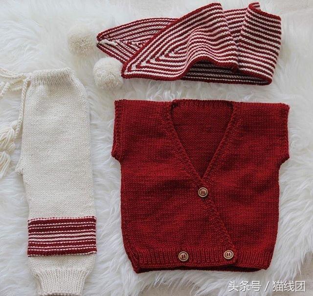 7款宝宝毛衣,连体裤编织图解,巧手宝妈都是这样织的图片