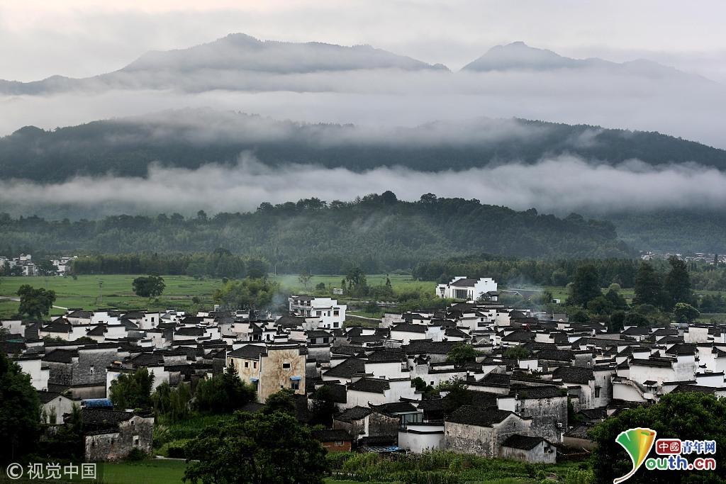 安徽黟县:雨后皖南乡村田园美如画卷