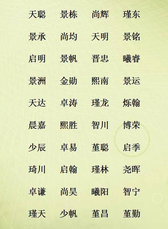 男孩名字阳光帅气,女孩名字温柔儒雅,18年宝宝名字精选