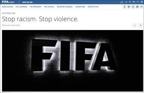 观察者网国际足联主席:德甲球员声援黑人应得到掌声,而不是处罚