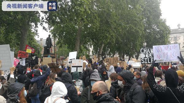 北京日报客户端英国伦敦再次举行大规模反种族主义示威活动