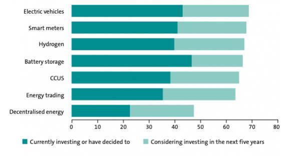 [全国能源信息平台]调查认为电动汽车和电池储能系统是能源领域投资中最受欢迎的非发电技术资产