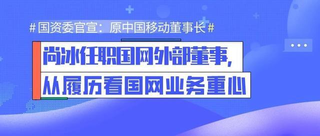 「全国能源信息平台」国资委官宣:原中国移动董事长尚冰任职国网外部董事,从履历看国网业务重心
