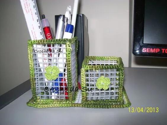 工业风加装▲把塑料片拼接起来,笔筒、收纳盒都不用买了,DIY手工制作