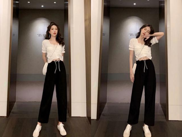 最时尚夏天来了,阔腿裤配这3件上衣最舒服,最好看了!