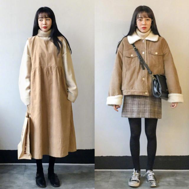天冷了也要穿裙子,分享18套可爱的软妹系裙装搭配,减龄显气质