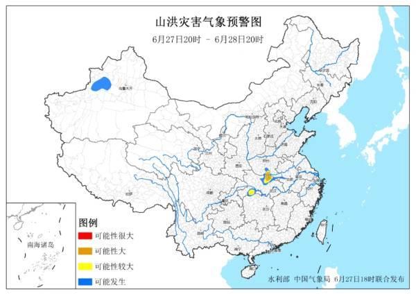 观察者网两部门:河南南部、湖北北部局地发生山洪灾害可能性大