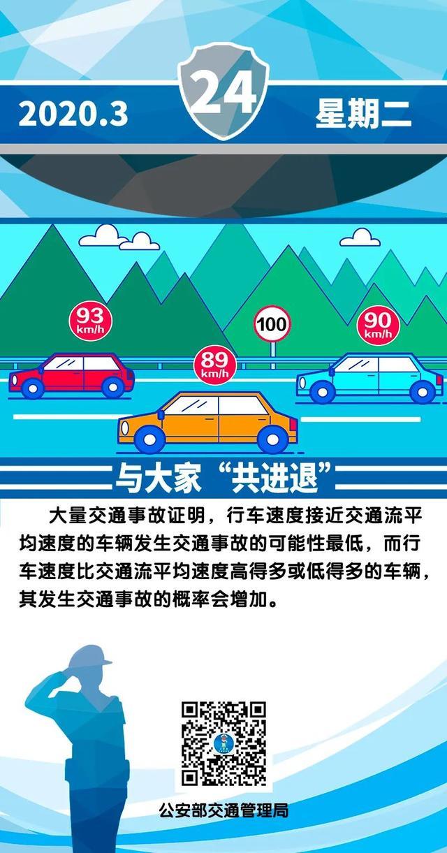"""「汽车资讯」【了解常识】交通安全一图 与大家""""共进退"""""""