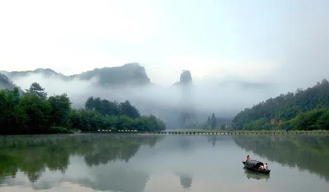 「约吗旅行」浙江卫视报道:仙都景区有序开放