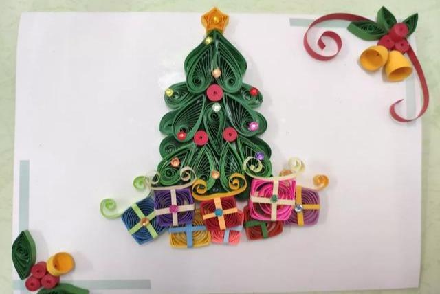 「工业风加装」适合儿童做的纸艺贺卡,衍纸立体手工贺卡,DIY附教程