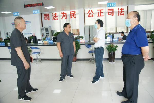 大河客户端南阳中院督查组莅临督查邓州法院重点工作