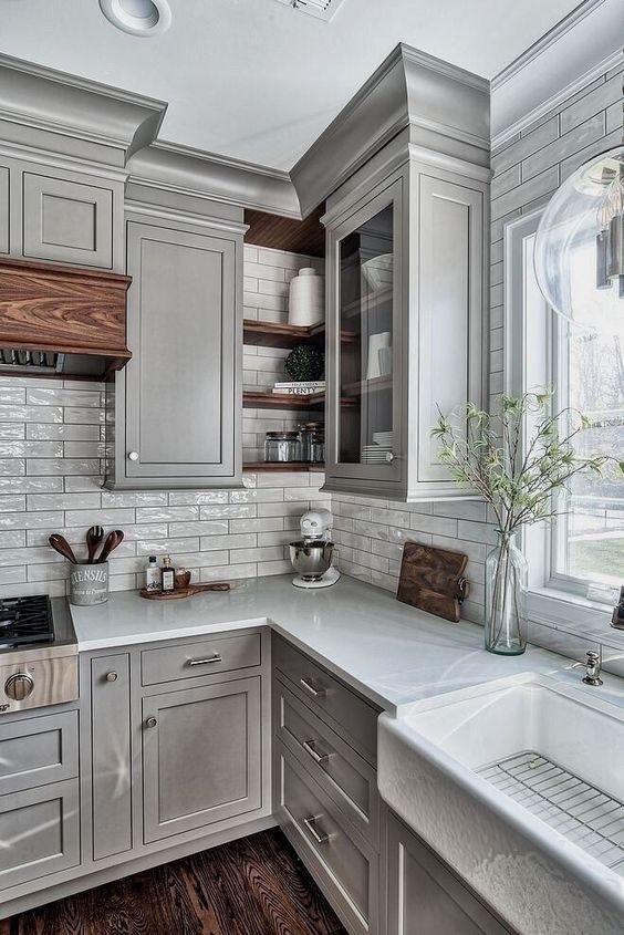 「工业风加装」厨房小憋屈,就这样规划水槽位置,挪墙L拐角处,能腾出不少空间