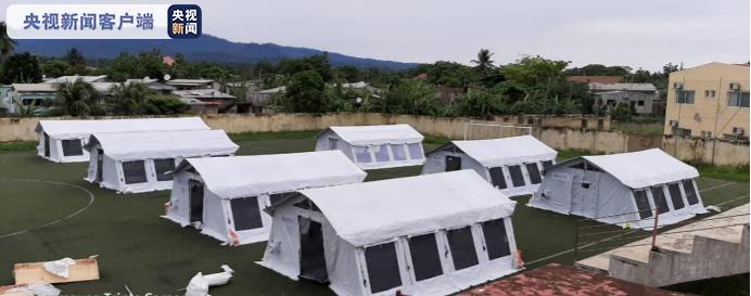 央视新闻客户端中国援圣普医疗队助力圣普建设方舱医院 分享中国经验