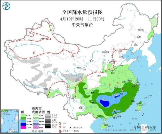 中国新闻网@贵州湖南等地将有较强降水 甘肃西部等地有大风沙尘