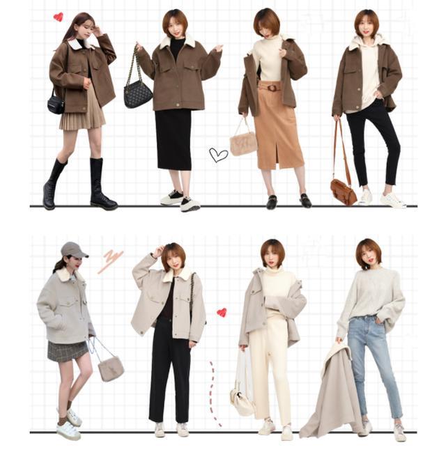 羊卷毛外套一衣多穿,不可以错过的混搭