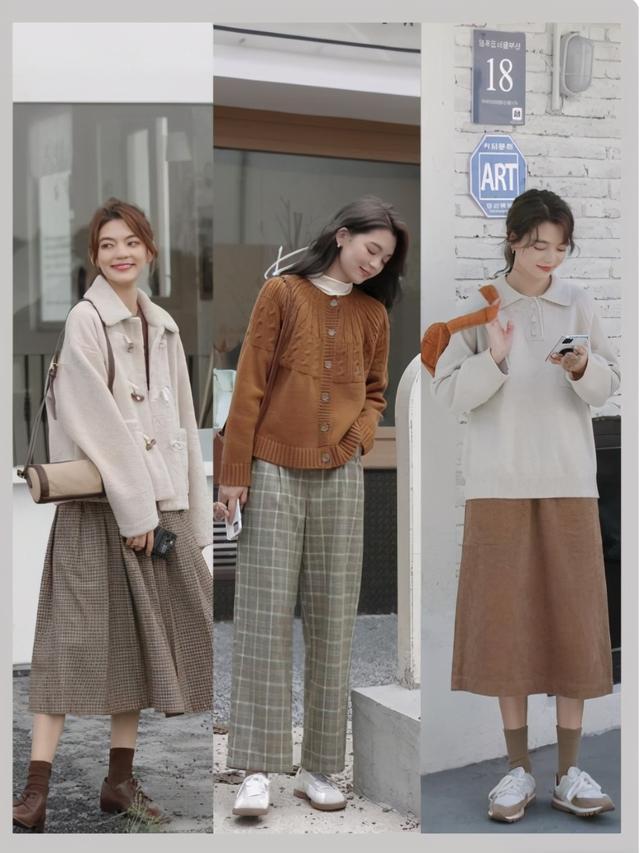 青春靓丽的18套秋冬穿搭示范,简约百搭又时髦,优雅的文艺范