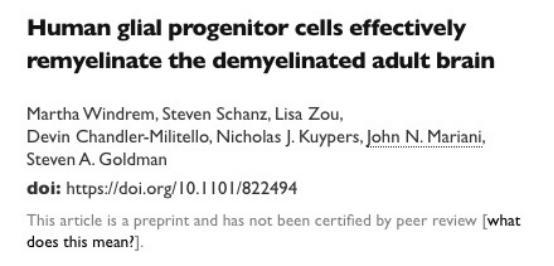 「快乐养生」最新研究表明干细胞疗法可治疗多发性硬化症
