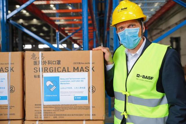 21世纪经济报道▲巴斯夫从中国采购口罩捐赠德国