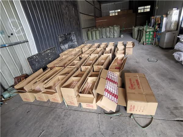光明网玉溪易门:易门警方截获1650条假烟