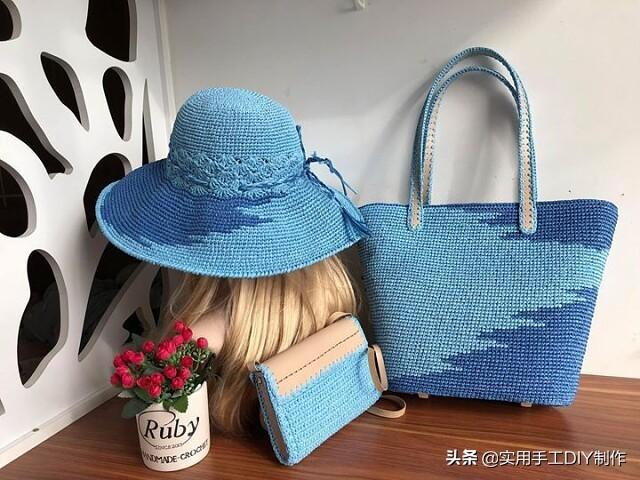 普拉达女王「针织作品」精美的帽子和包包套装,时尚的你值得拥有