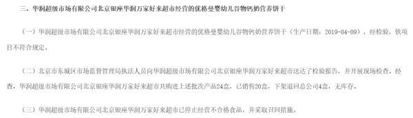 #中国经济网#华润万家一天3上通报 北京天津3门店登榜抽查不合格