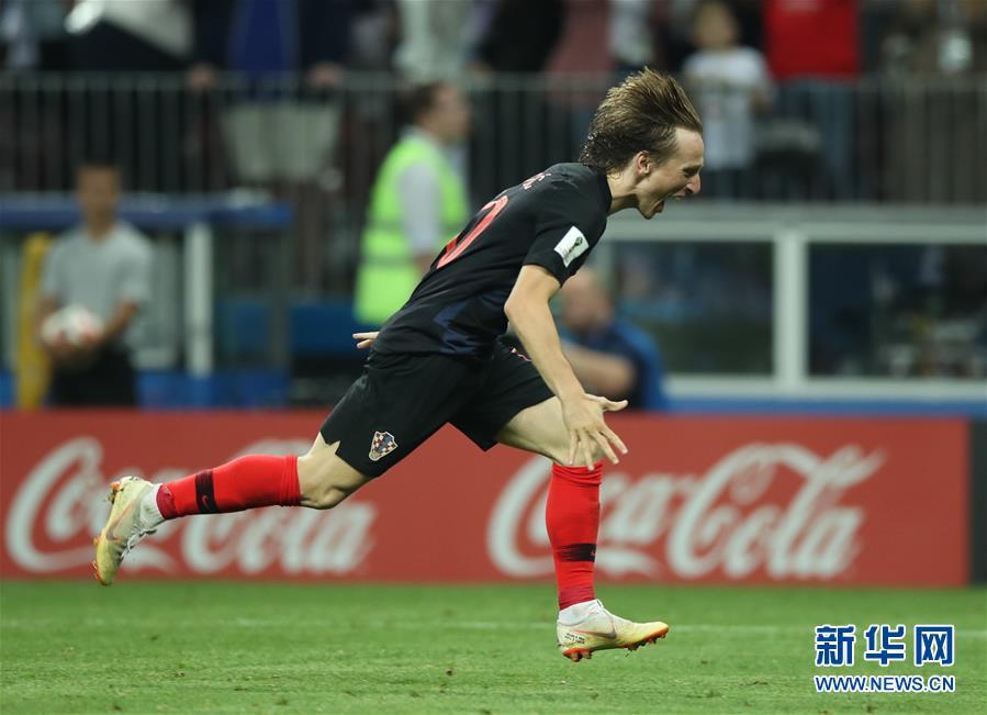 2018世界杯:克罗地亚队2比1淘汰英格兰队 首进决赛