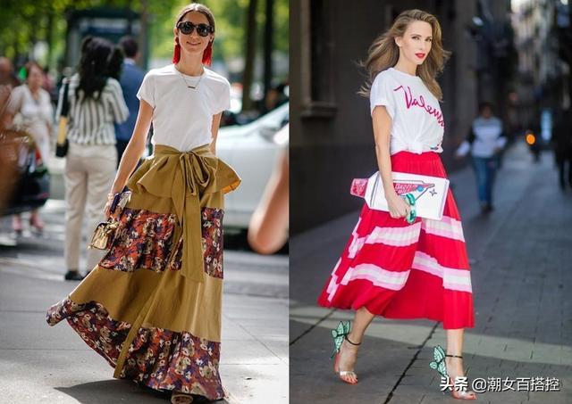 简约又百搭的白色T恤,夏天用它凹造型,清爽舒适轻松穿出时髦感
