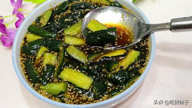 酱黄瓜好吃有诀窍,做好关键这1步,黄瓜条爽脆更入味,还不易坏