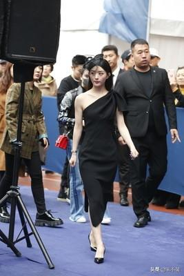 赵丽颖薄纱礼帽出席活动,她的定妆照和现场照,真不一样